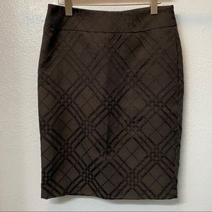Cynthia Rowley Black Lined Skirt